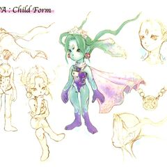 Concept artwork of an unused child form.