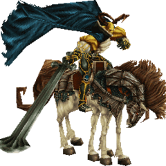 Odin's 3D Model in <i>Final Fantasy IX</i>.