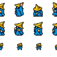 Sprites of the Black Mage.