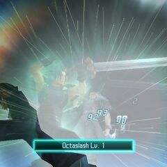 Zack using Octaslash in <i>Crisis Core -Final Fantasy VII-</i>.