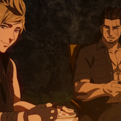 Gladiolus and Prompto.