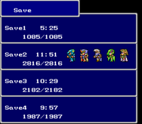 FFIV SNES Save Menu