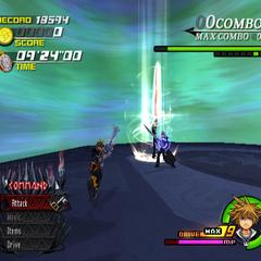 Leon using Blasting Zone in <i><span class=