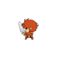Warrior from the V-Jump strategy guide for <i>Final Fantasy</i> (WonderSwan Color).