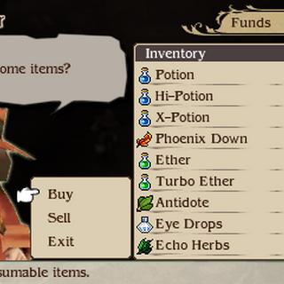 The Adventurer's shop in <i>Bravely Second</i>.