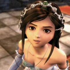 Garnet in Princess attire.