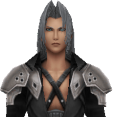 In-game model of Sephiroth.