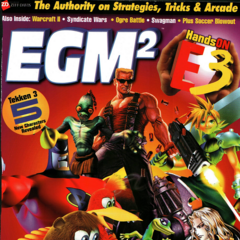 Cloud on the cover of <i>EGM2</i> August 1997.