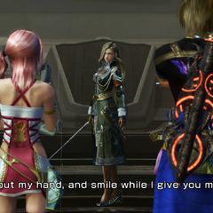 Nabaat talking to Serah and Noel.