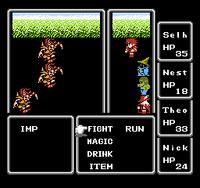Final Fantasy 1 NES Battle