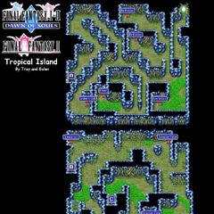 Tropical Island's Map (PSP).