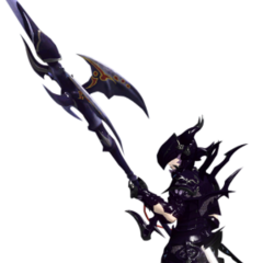 A Miqo'te Dragoon in <i><a href=