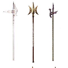 Kimahri's spears.