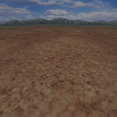 A desert battle background on the world map.
