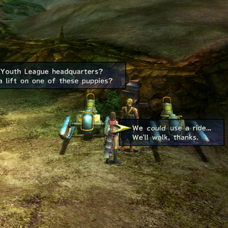 The Al Bhed's transport service in <i>Final Fantasy X-2</i>.