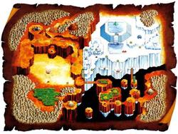 FFMQ - World Map Artwork