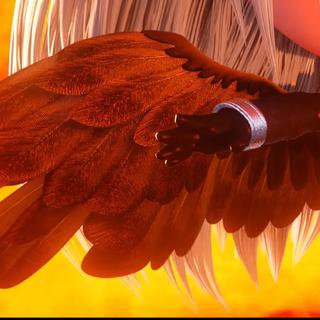 Sephiroth's wing.