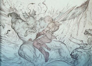 Amano Tidus vs Monster