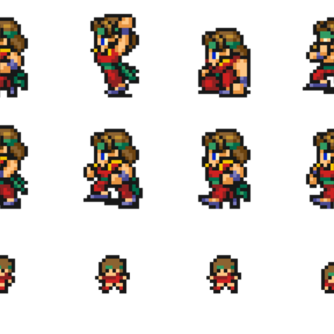 Set of Monk's sprites.