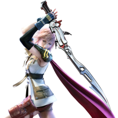 Lightning armed with her Blazefire Saber.