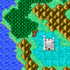 Citadel of Trials on the World Map (GBA).