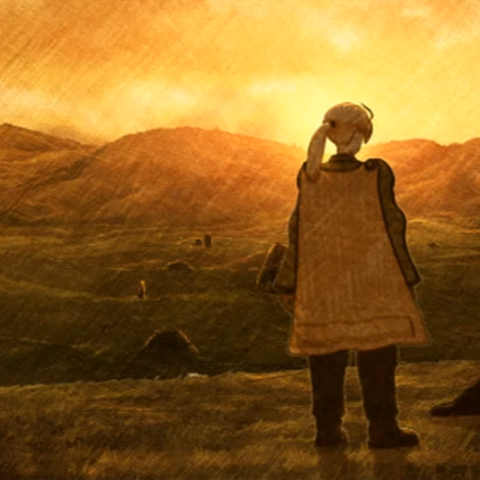 Mandalia Plains in a cutscene from <i>War of the Lions</i>.
