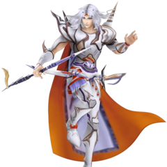 Render of Cecil's Amano appearance as a Paladin.