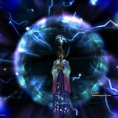 Yuna summons Ixion.