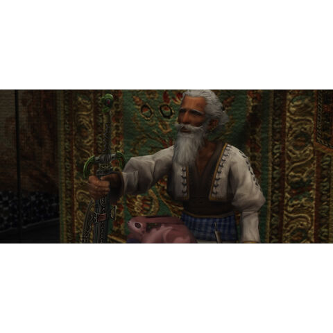 Dalan asks Vaan to deliver the Sword of the Order to Vossler.