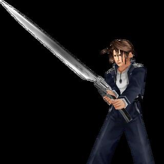 In-game Balamb Garden Uniform battle model from <i>Final Fantasy VIII</i>.