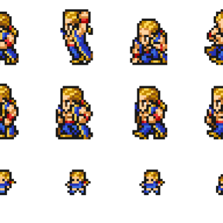 Set of Master Monk's sprites.