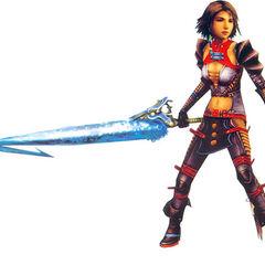 Yuna as a Warrior.