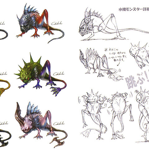 Concept art (top right).