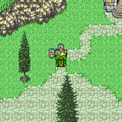 Kefka collecting the magicite of the espers.