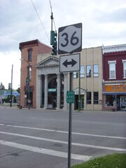 Intersection of State Route 248 and Route 36 in Canisteo