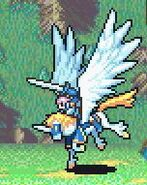 Florina as a Falcoknight with a Sword
