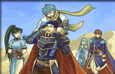 File:Hector, Lyn, Nils, Ninian, Eliwood.png