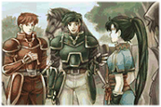 Lyn and Tactician meet Caelin Knights