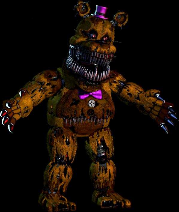 Image Nightmare Fredbear In Nightmare S Pose Png Five