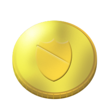 New royal gold coin