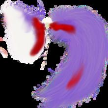 White pony tail