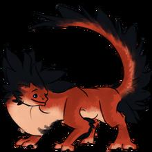 Pet furred gecko dragon