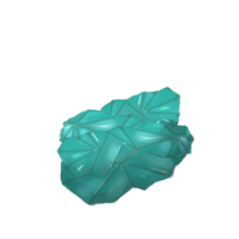 Uncut aquamarine gem