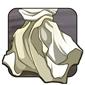 White Linen Fabric Scrap