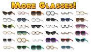 Clothing glasses flipline