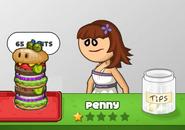 Penny ordered a double burgerzilla
