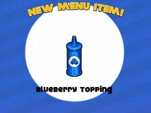 Unlocking blueberry topping