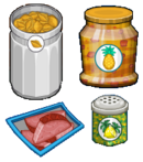 Summer luau toppings (pastaria)