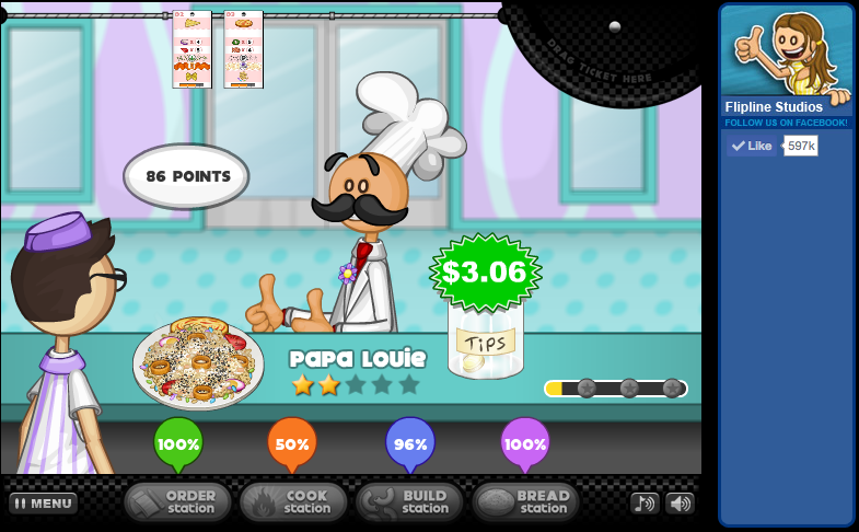 list of papa louie games