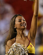 Washington Redskins cheerleader @ game vs New England Patriots 08